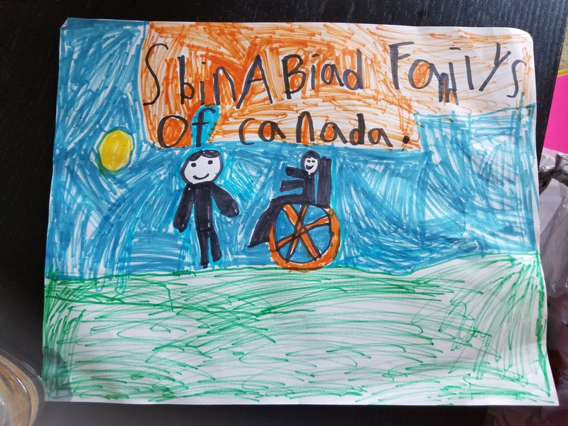 Child's drawing of Spina Bifida Families of Canada.
