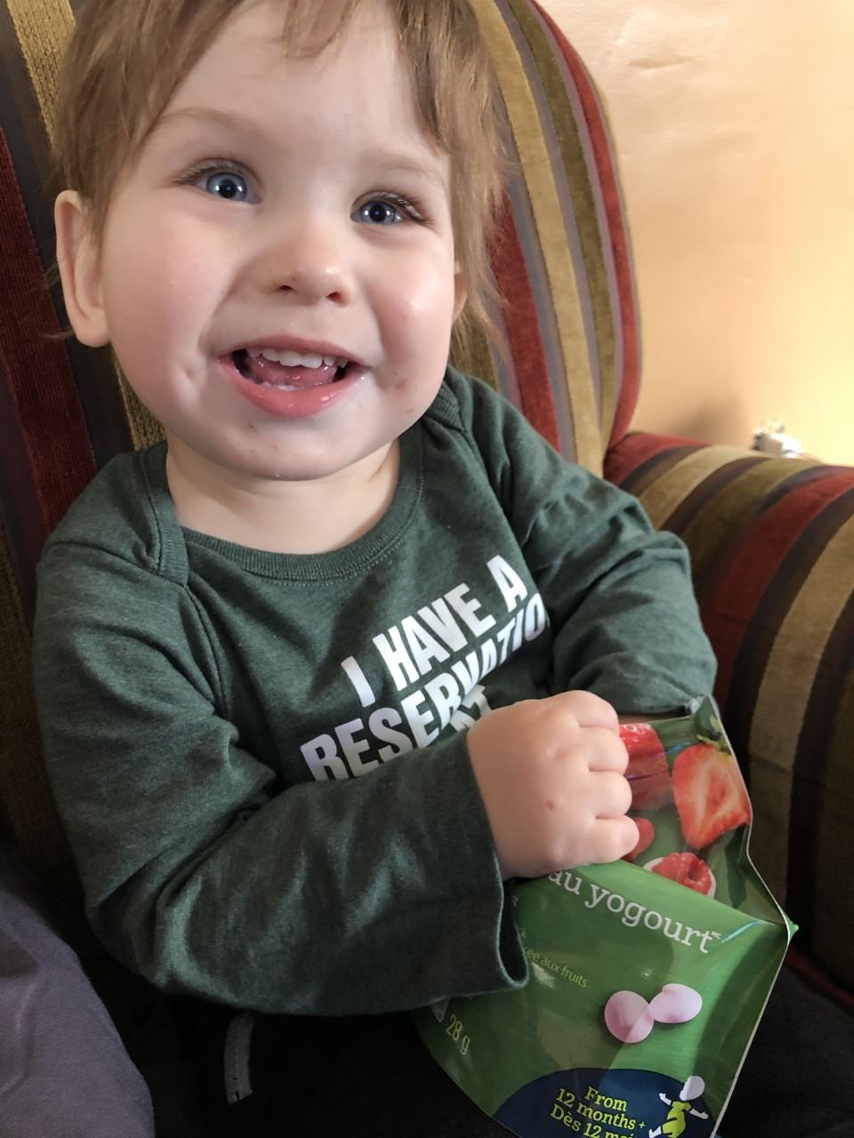 Everett, a happy, little boy.